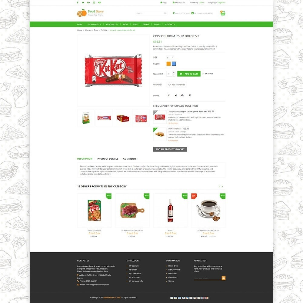 theme - Food & Restaurant - Food store - Fresh foods,  drinks and fruit store - 4