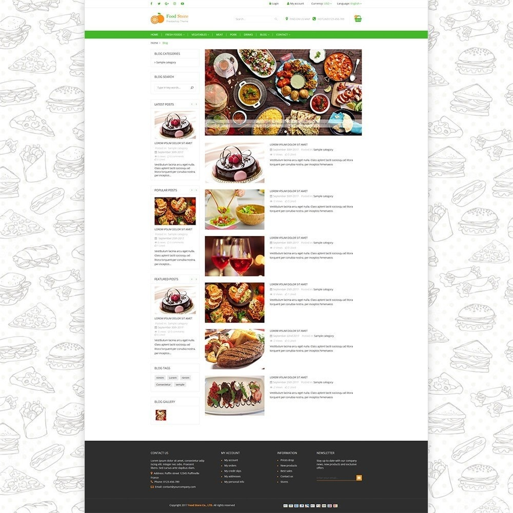 theme - Food & Restaurant - Food store - Fresh foods,  drinks and fruit store - 5
