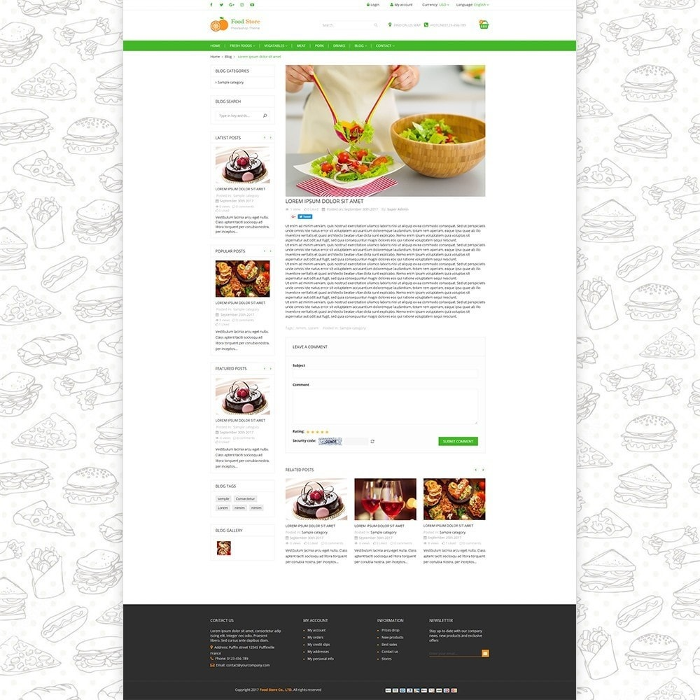 theme - Food & Restaurant - Food store - Fresh foods,  drinks and fruit store - 6