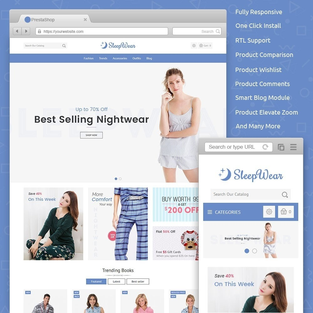 theme - Lingerie & Adulti - Sleep Wear Store - 1