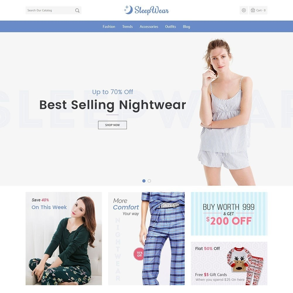 theme - Lingerie & Adulti - Sleep Wear Store - 2