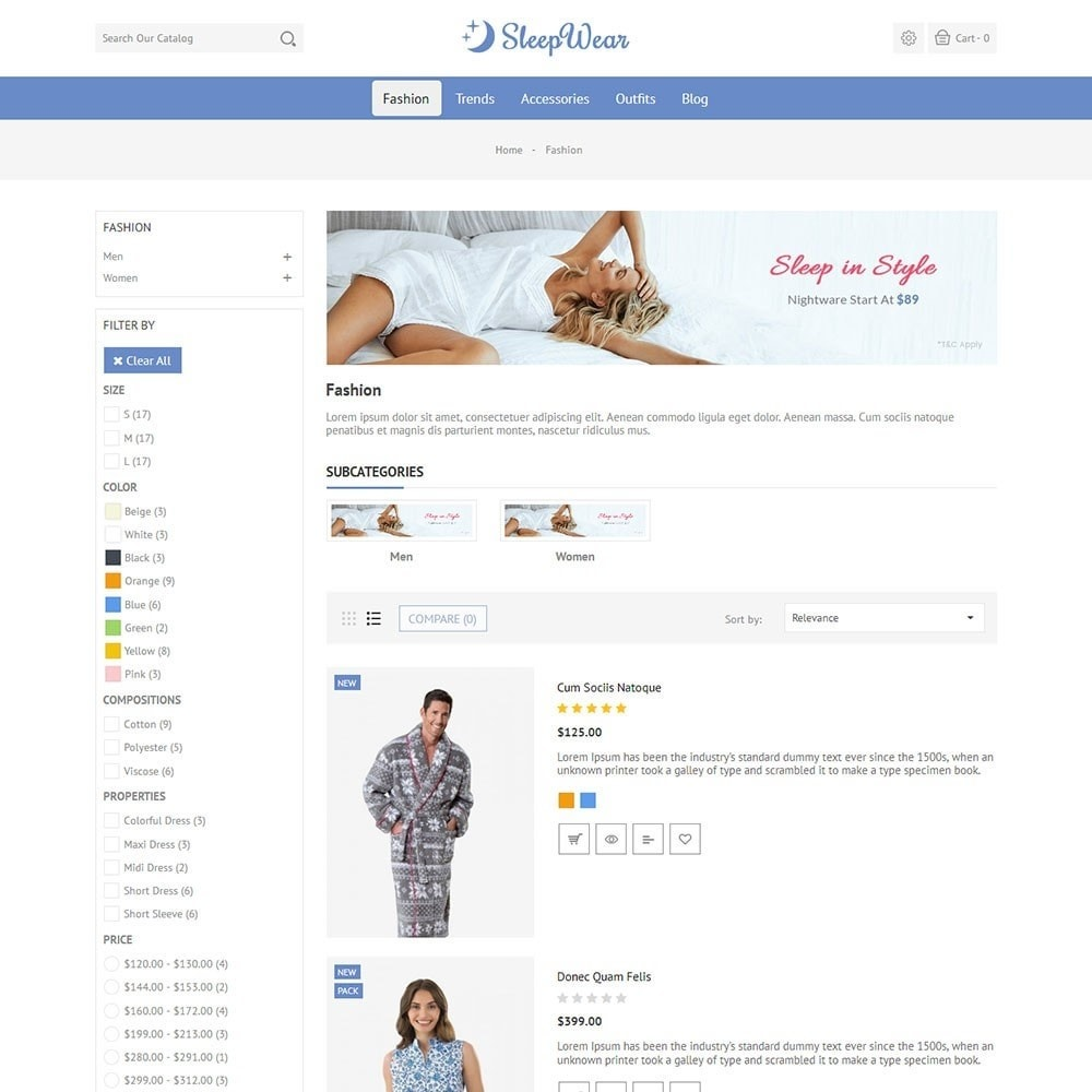 theme - Lingerie & Adulti - Sleep Wear Store - 4
