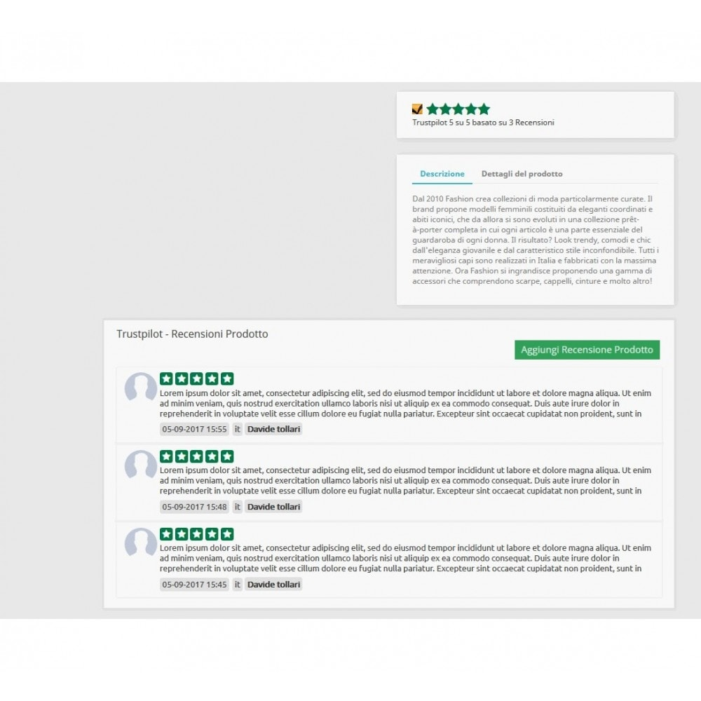 module - Recensioni clienti - ITC TrustPilot Manager - 9