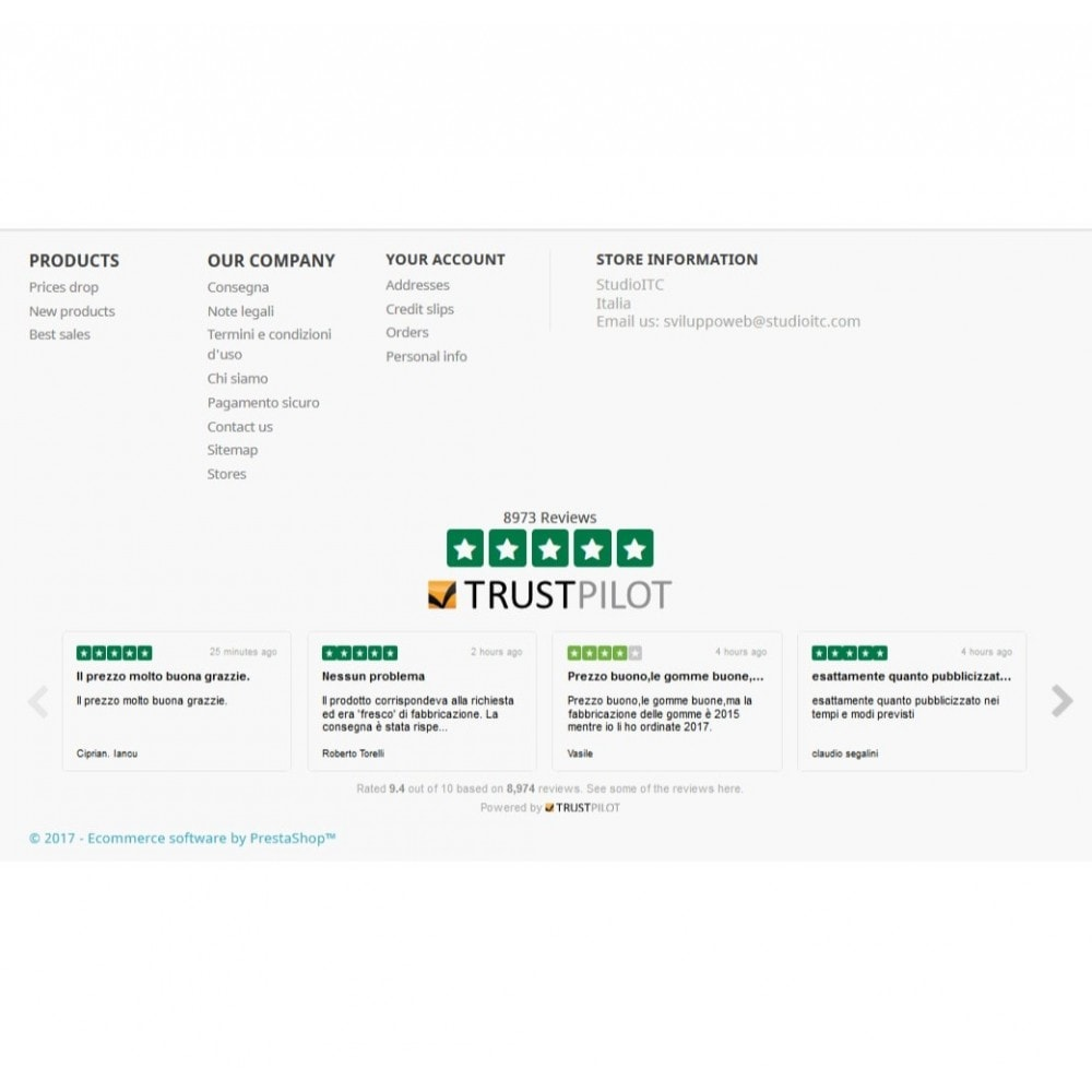 module - Customer Reviews - ITC TrustPilot Manager - 8