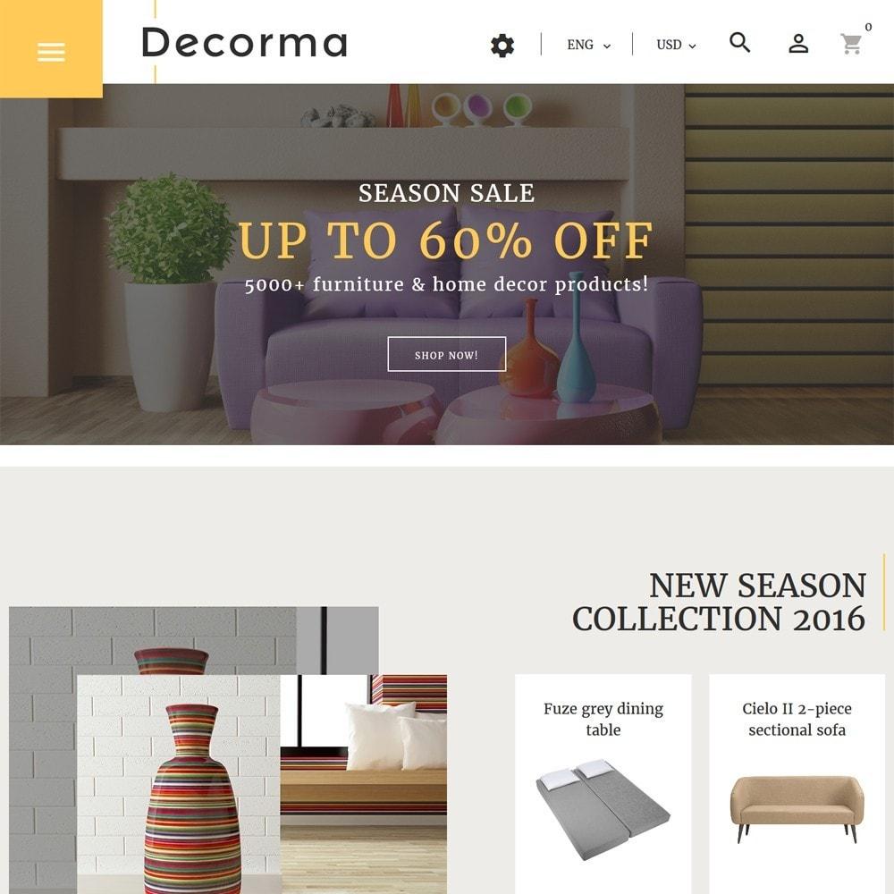 theme - Искусство и Культура - Decorma -  шаблон по продаже мебели - 2
