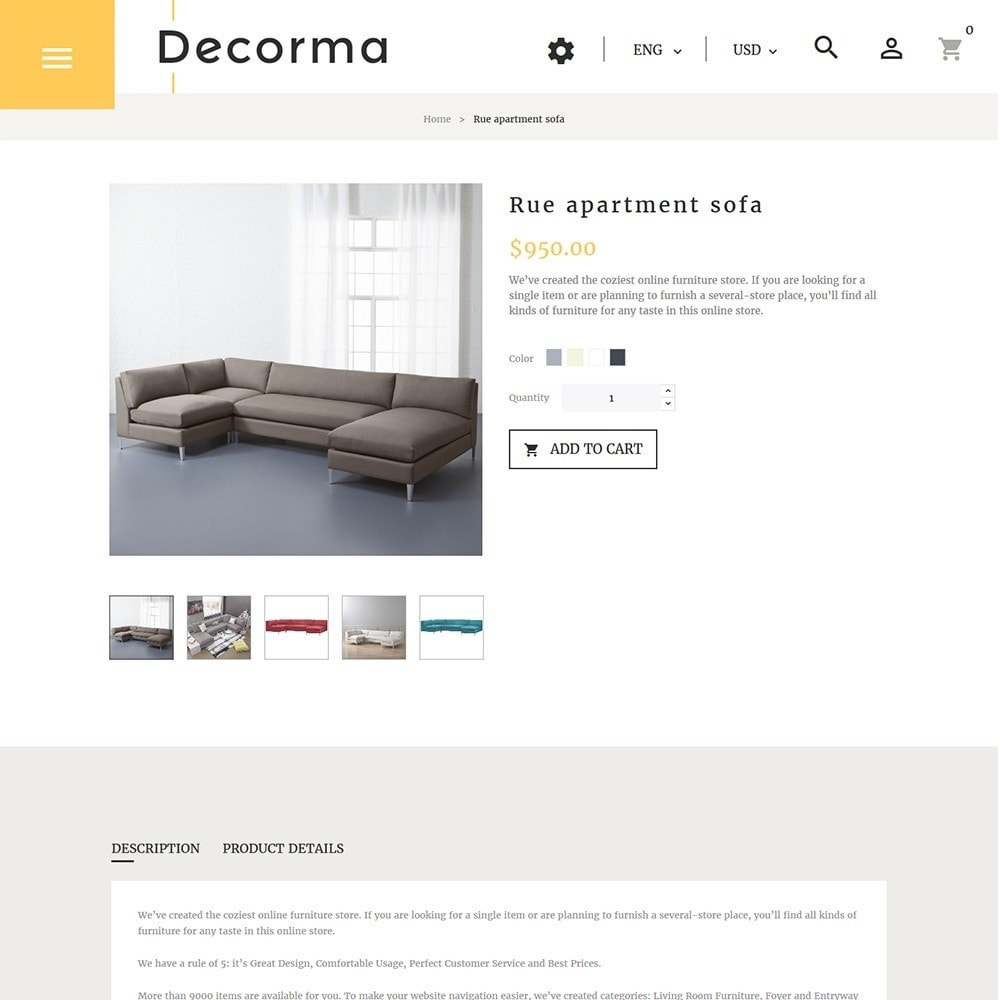 theme - Искусство и Культура - Decorma -  шаблон по продаже мебели - 5