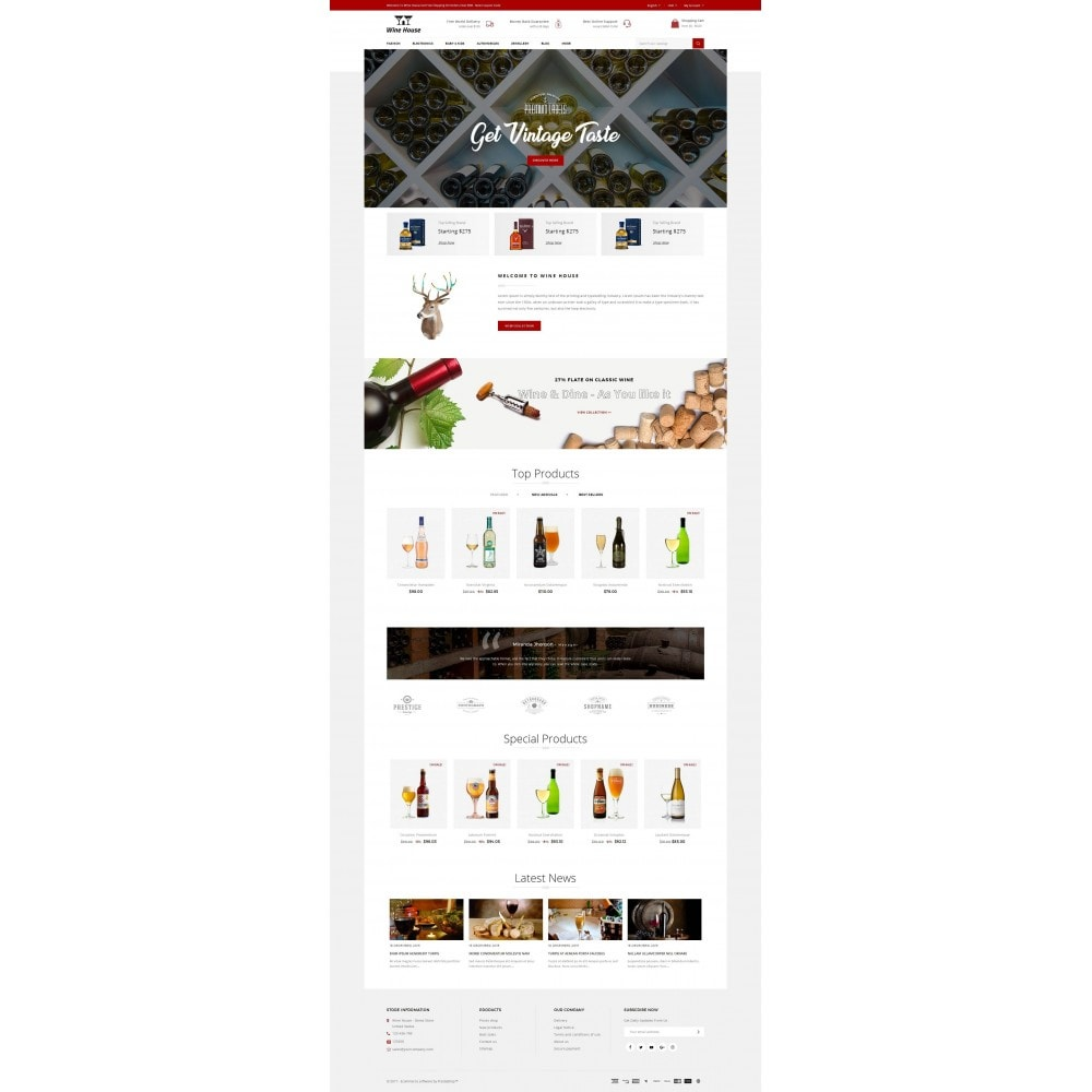 theme - Drink & Wine - Wine House - 2