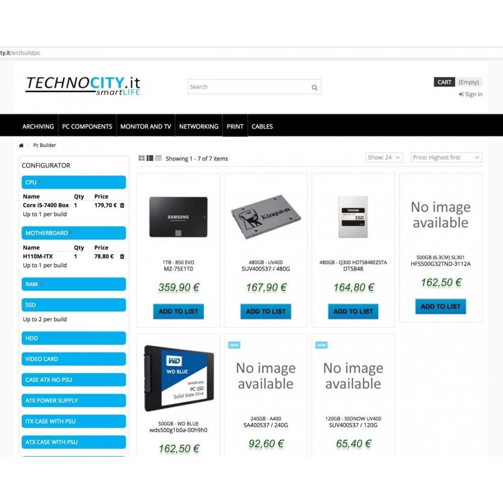 module - Combinazioni & Personalizzazione Prodotti - PC Builder | PC Configurator - 7