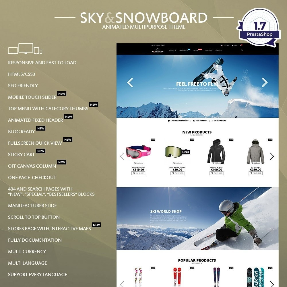 theme - Sports, Activities & Travel - Ski & Snowboard - Sport store - 1