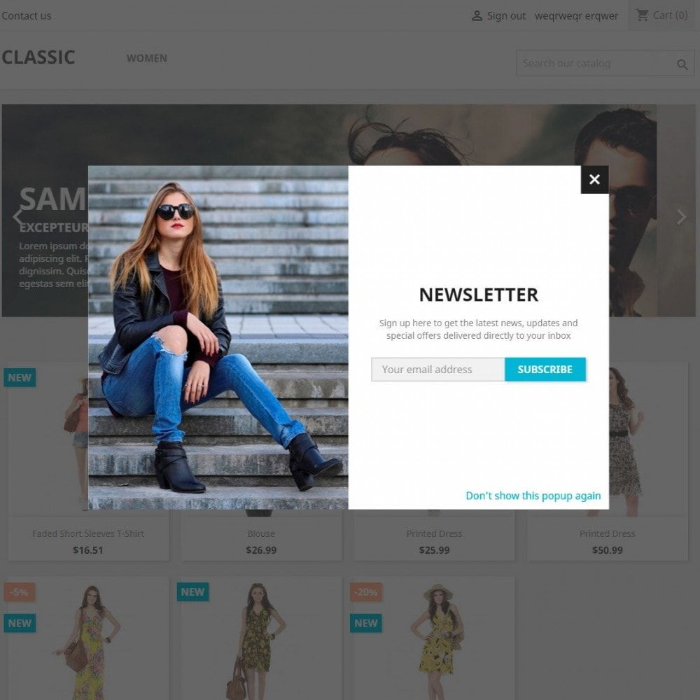 module - Pop-up - Email Marketing Newsletter Subscription Popup - 2