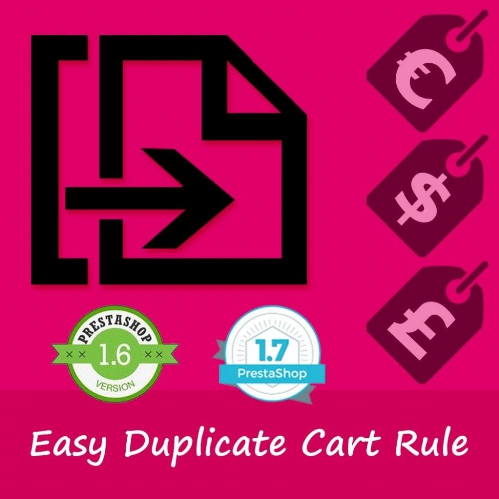 module - Kupony rabatowe w serwisach społecznościowych - Easy duplicate Cart Rule - 1
