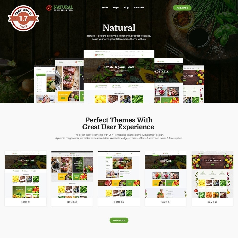theme - Alimentation & Restauration - Pts Natural – Fresh Organic Food - 1