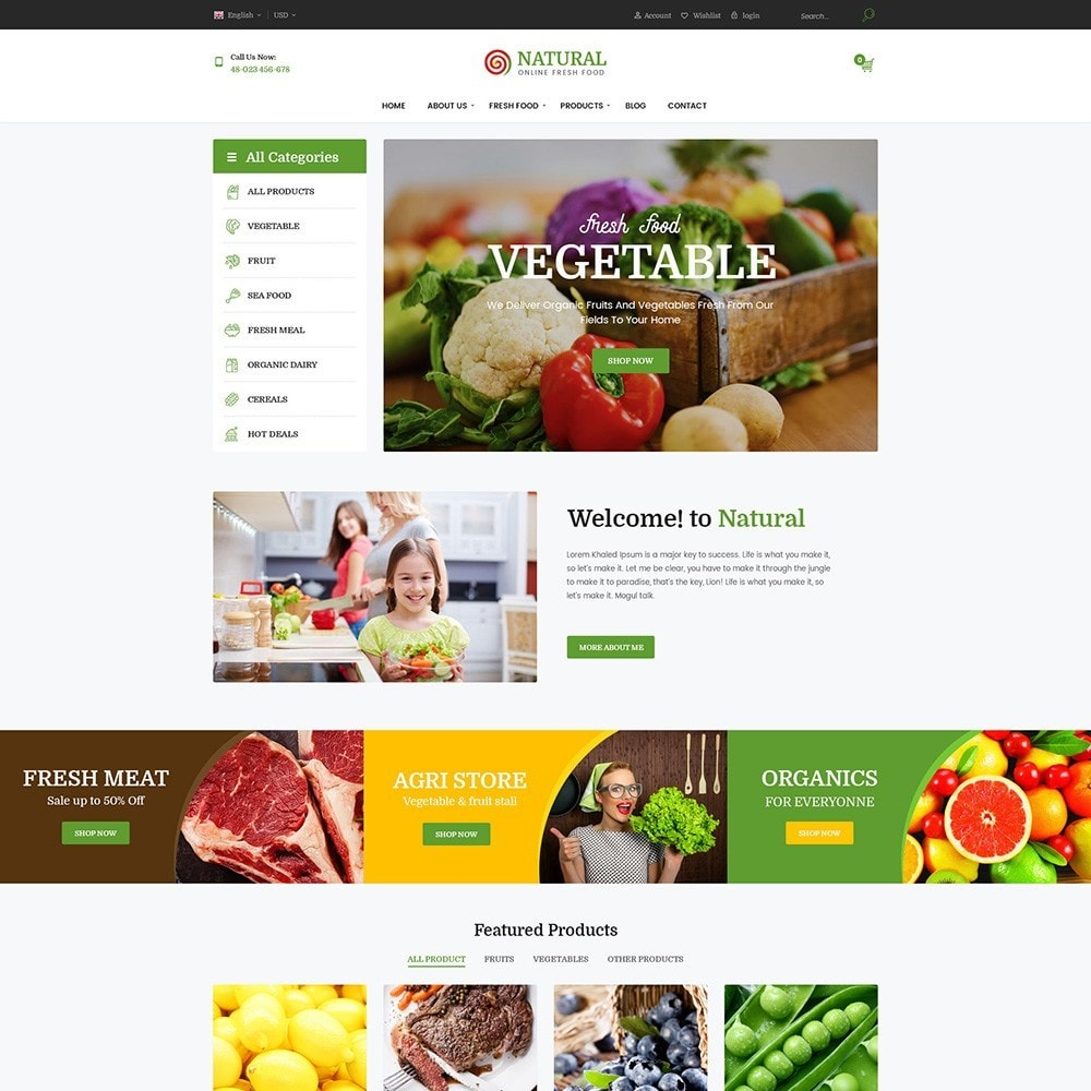 theme - Alimentation & Restauration - Pts Natural – Fresh Organic Food - 3