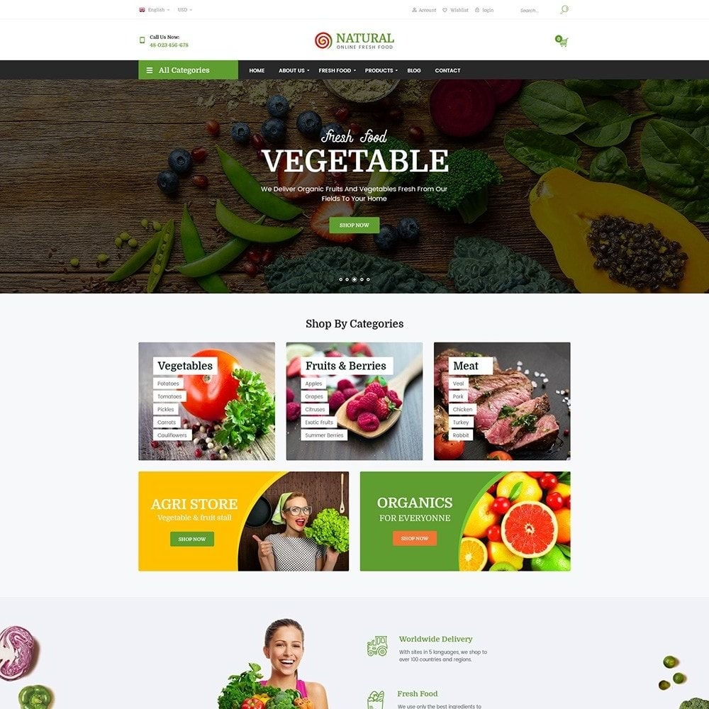 theme - Alimentation & Restauration - Pts Natural – Fresh Organic Food - 4