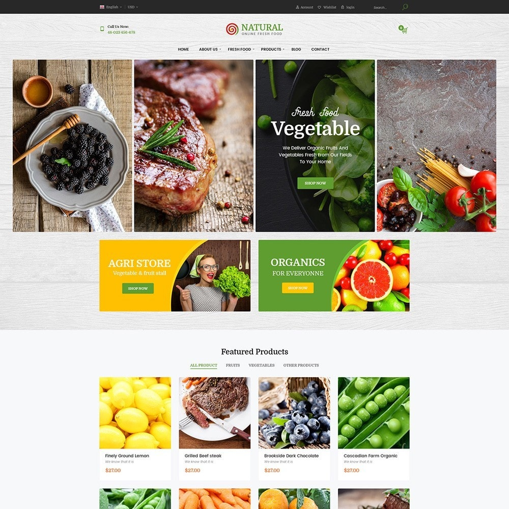 theme - Alimentation & Restauration - Pts Natural – Fresh Organic Food - 5