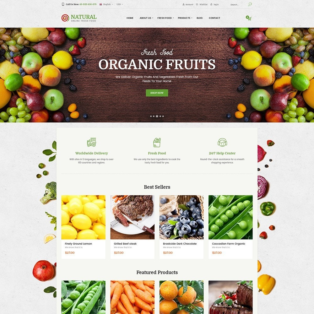 theme - Żywność & Restauracje - Pts Natural – Fresh Organic Food - 6
