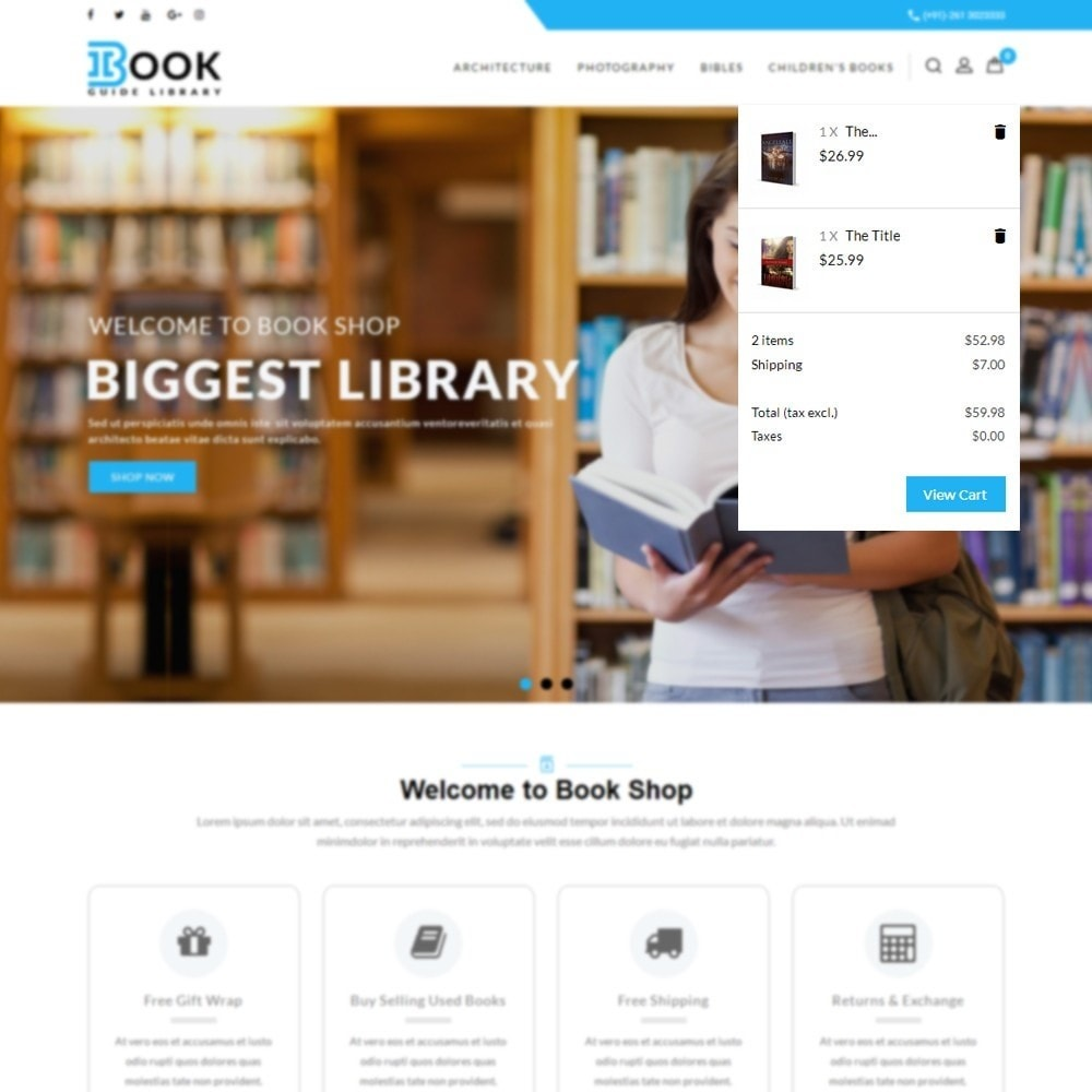 theme - Art & Culture - Book Store - 8