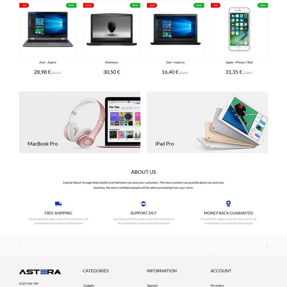 theme - Elektronica & High Tech - Astera - High-tech Shop - 3