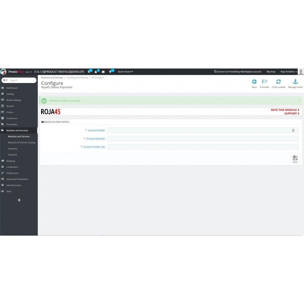 module - Płatność przy użyciu faktury - Baloto Payment Module - 1