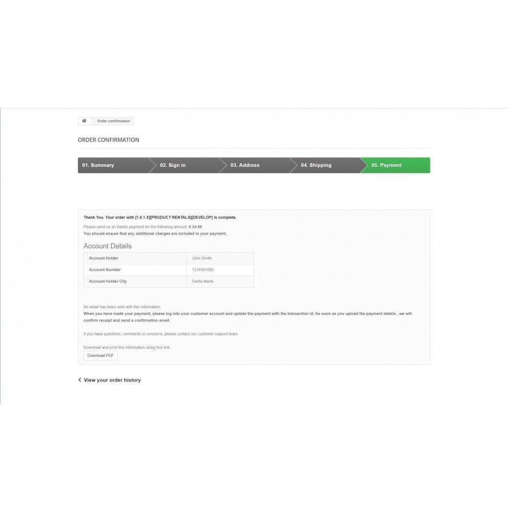 module - Płatność przy użyciu faktury - Baloto Payment Module - 11