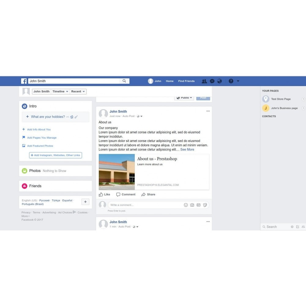 module - Deelknoppen & Commentaren - Auto-Post CMS/Blog to Social Media - 1