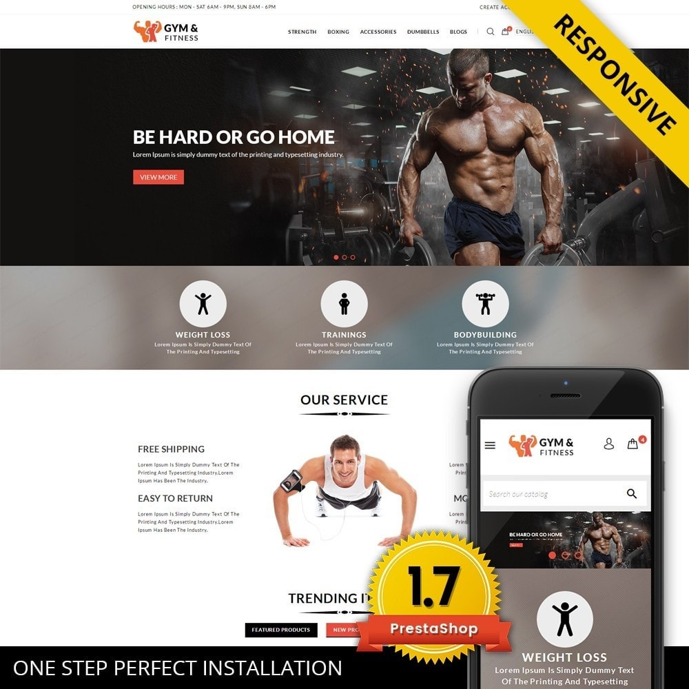 theme - Sport, Attività & Viaggi - Gym & Fitness - Online Store - 1
