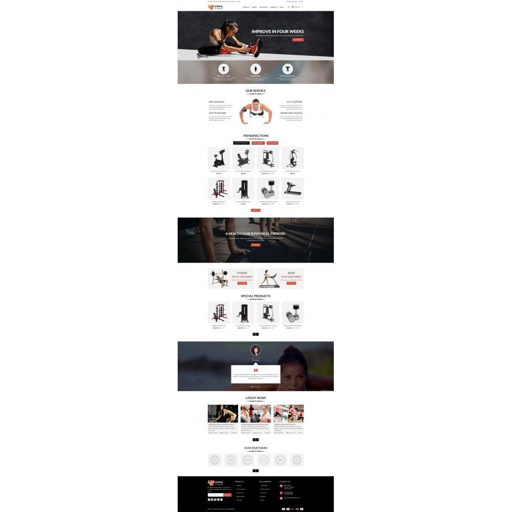 theme - Sport, Attività & Viaggi - Gym & Fitness - Online Store - 2