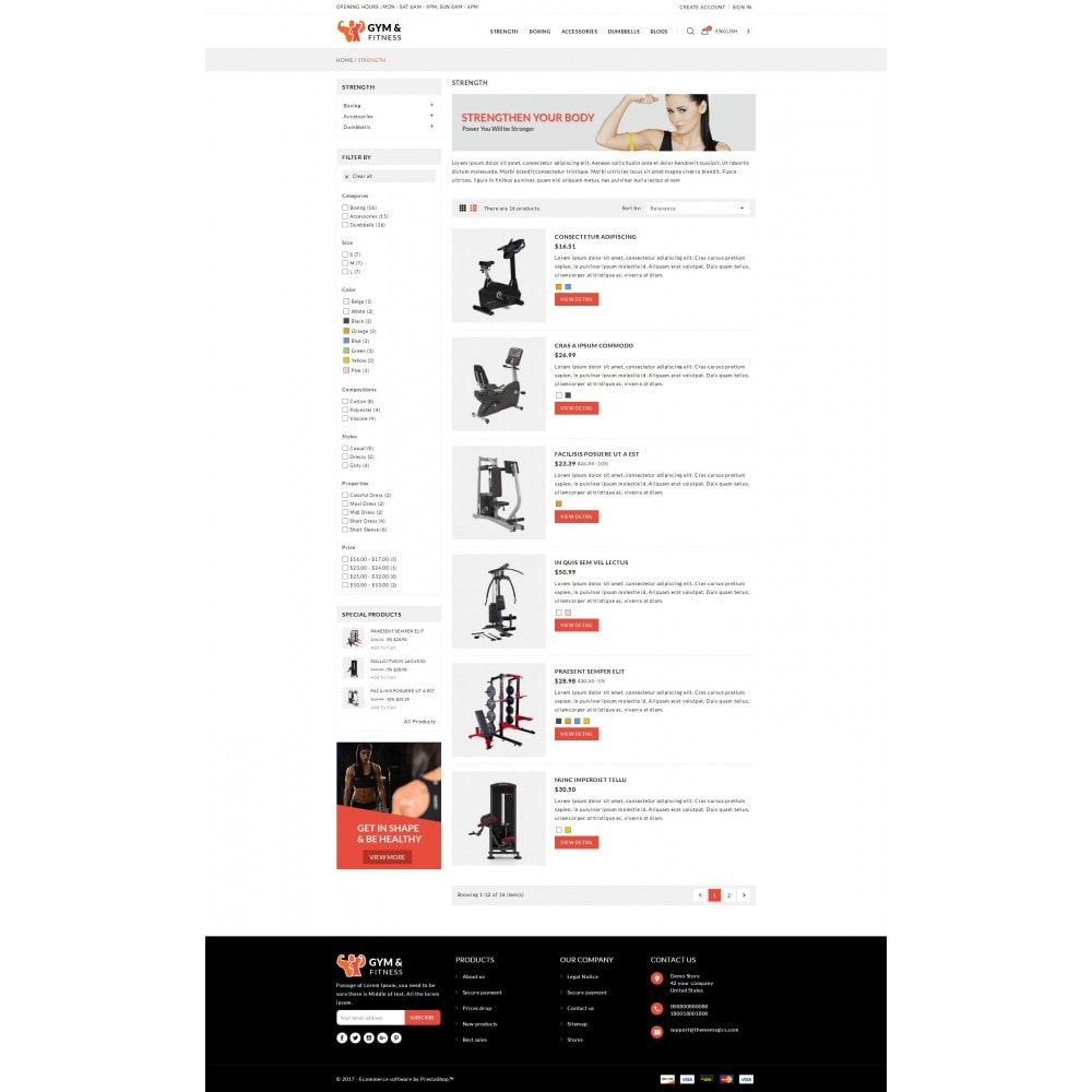 theme - Sport, Attività & Viaggi - Gym & Fitness - Online Store - 4