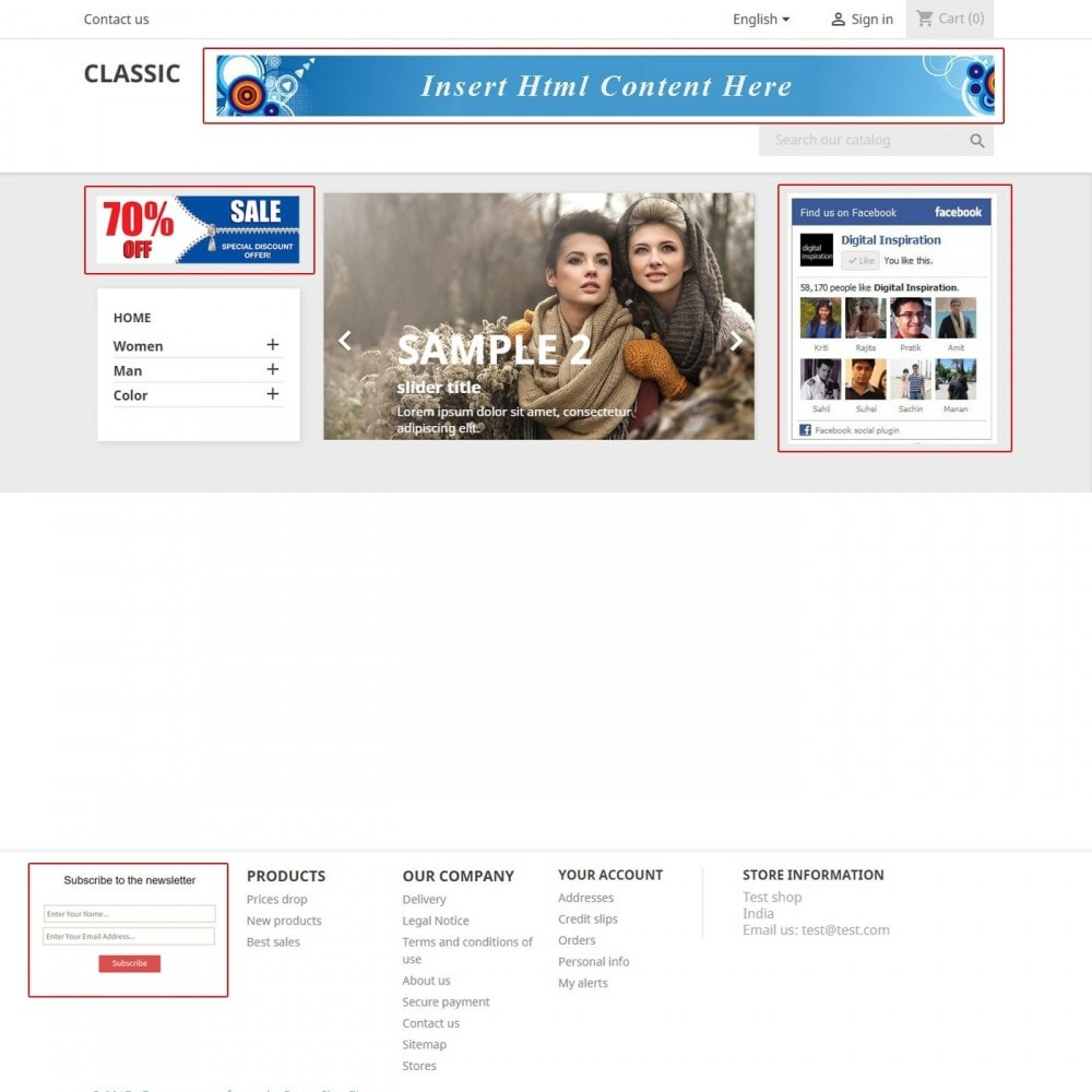 module - Bloques, Pestañas y Banners - Insert HTML Content - 3
