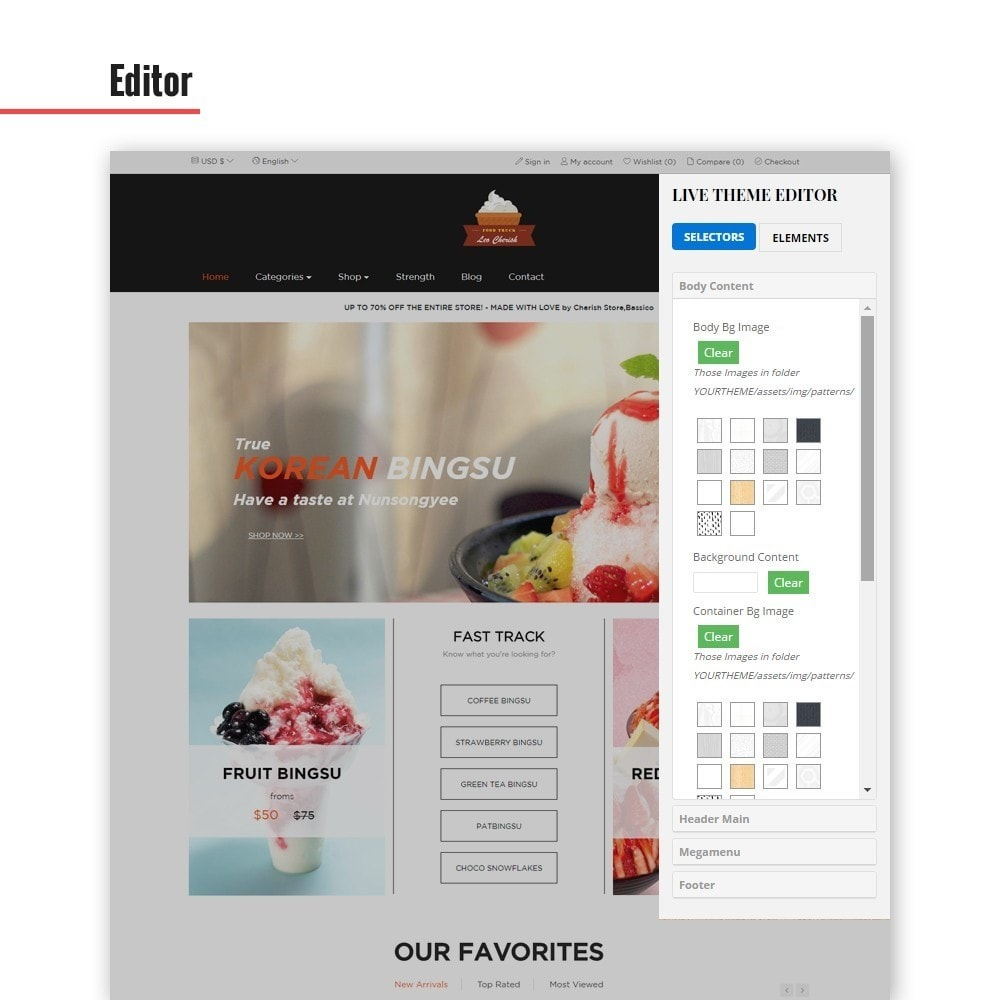 theme - Alimentos & Restaurantes - Leo Cherish Store - 3