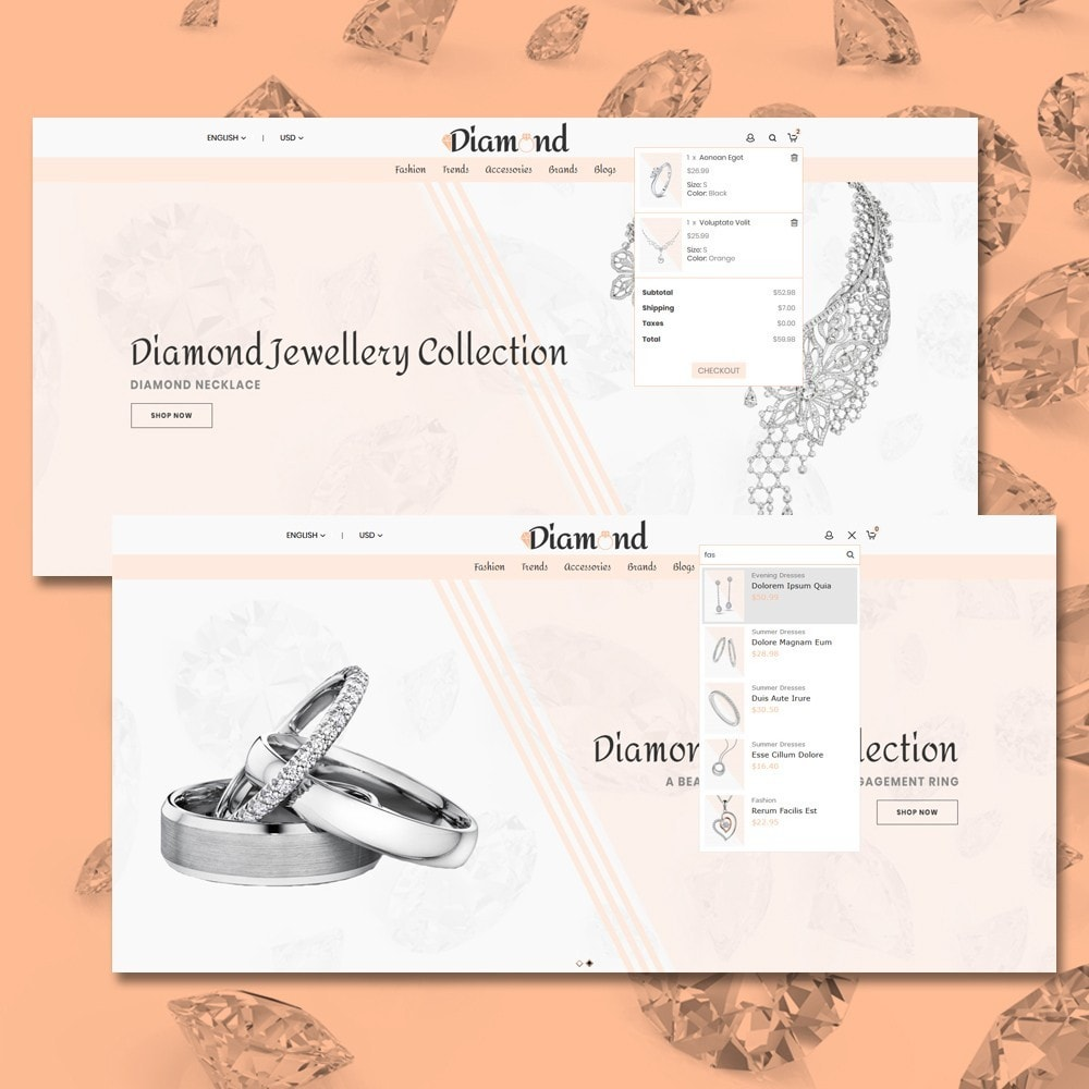 theme - Ювелирные изделия и Аксессуары - Diamond Jewellery - 3