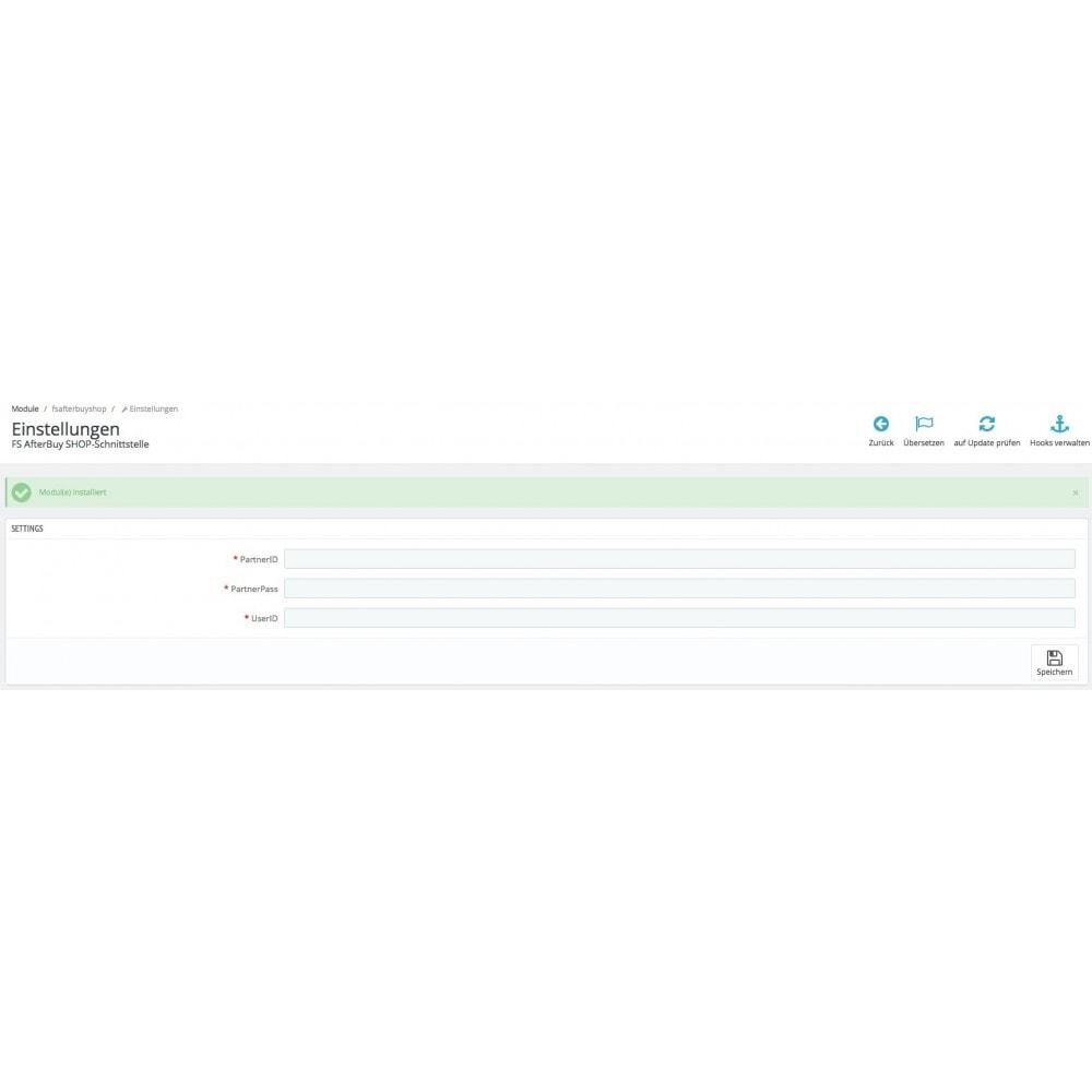 module - Third-party Data Integration (CRM, ERP...) - PrestaShop to Afterbuy order transmission - 4