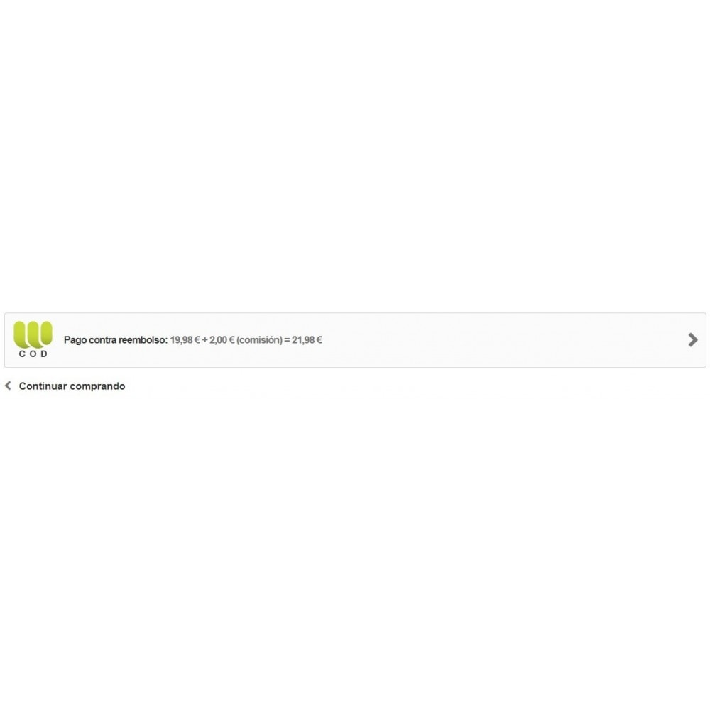 module - Pago a la Entrega (contrarrembolso) - Pago contra reembolso con comisión por Webubi - 4