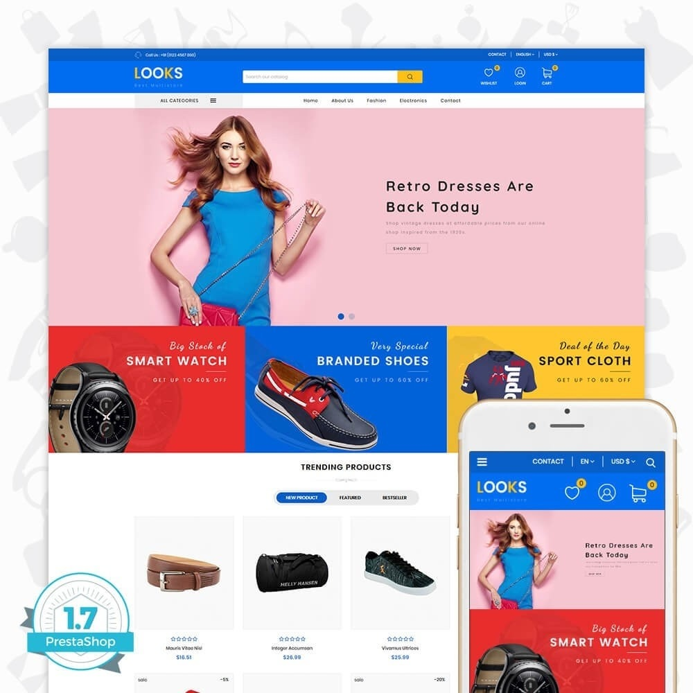 theme - Fashion & Shoes - LOOKS - The Best Fashion Multistore - 1