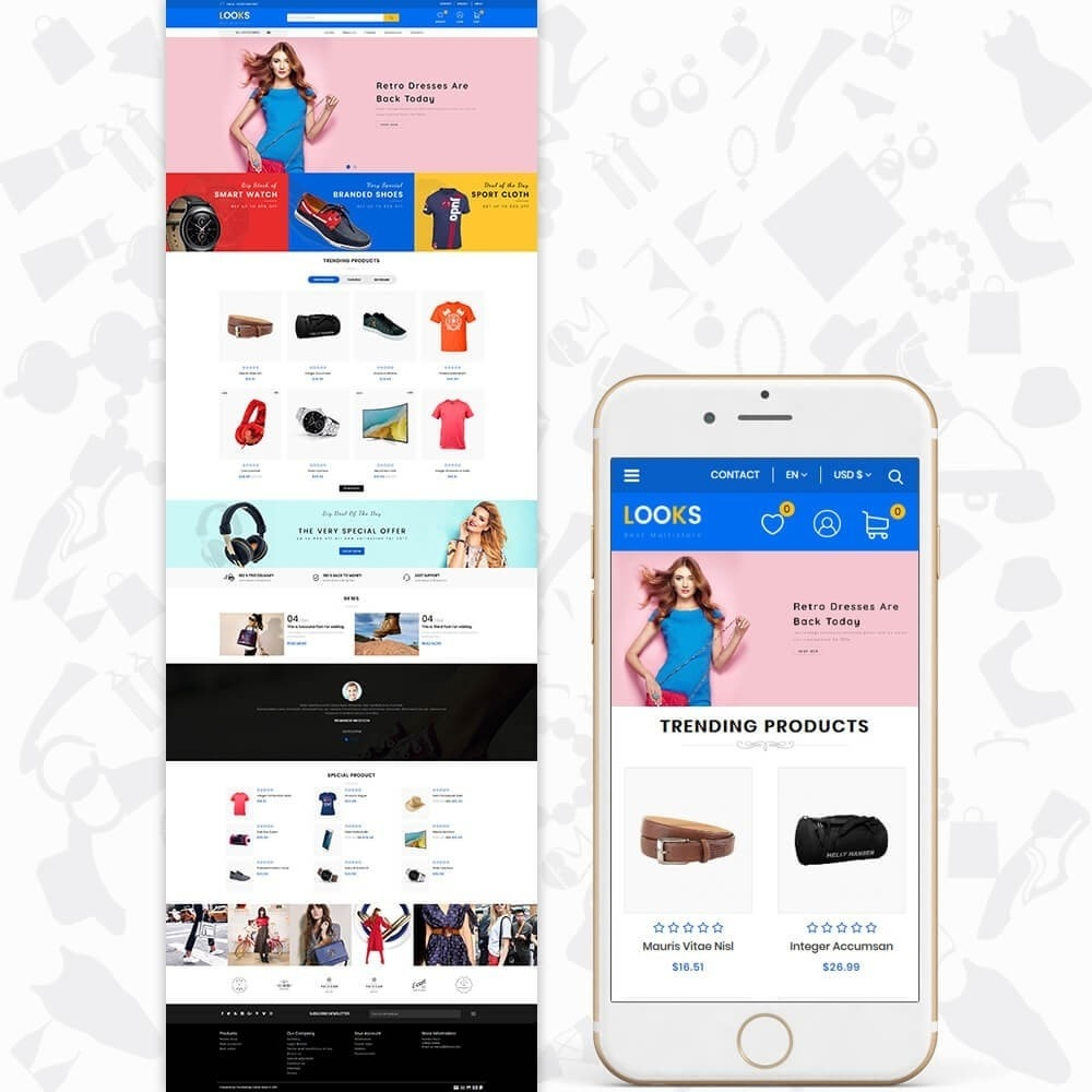 theme - Fashion & Shoes - LOOKS - The Best Fashion Multistore - 2