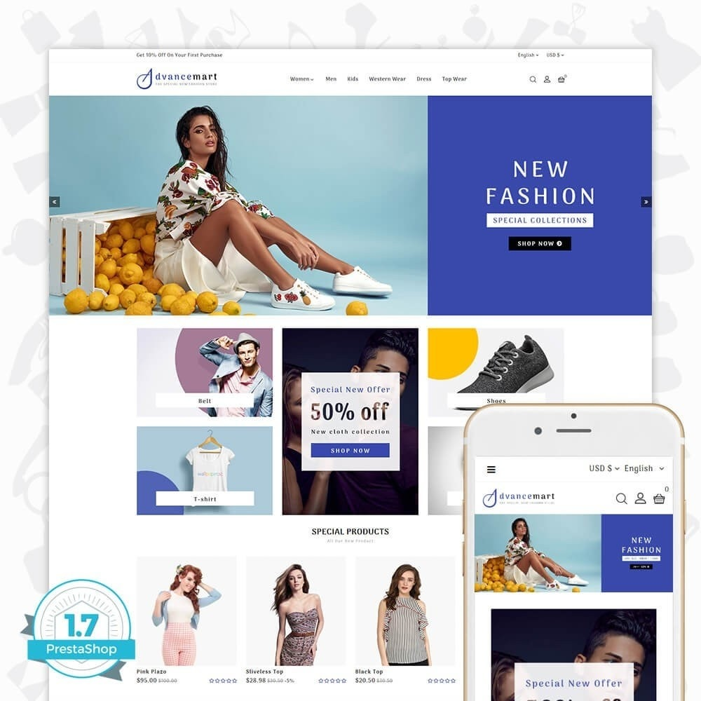 theme - Мода и обувь - Advance Mart - The Special Fashion Store - 1