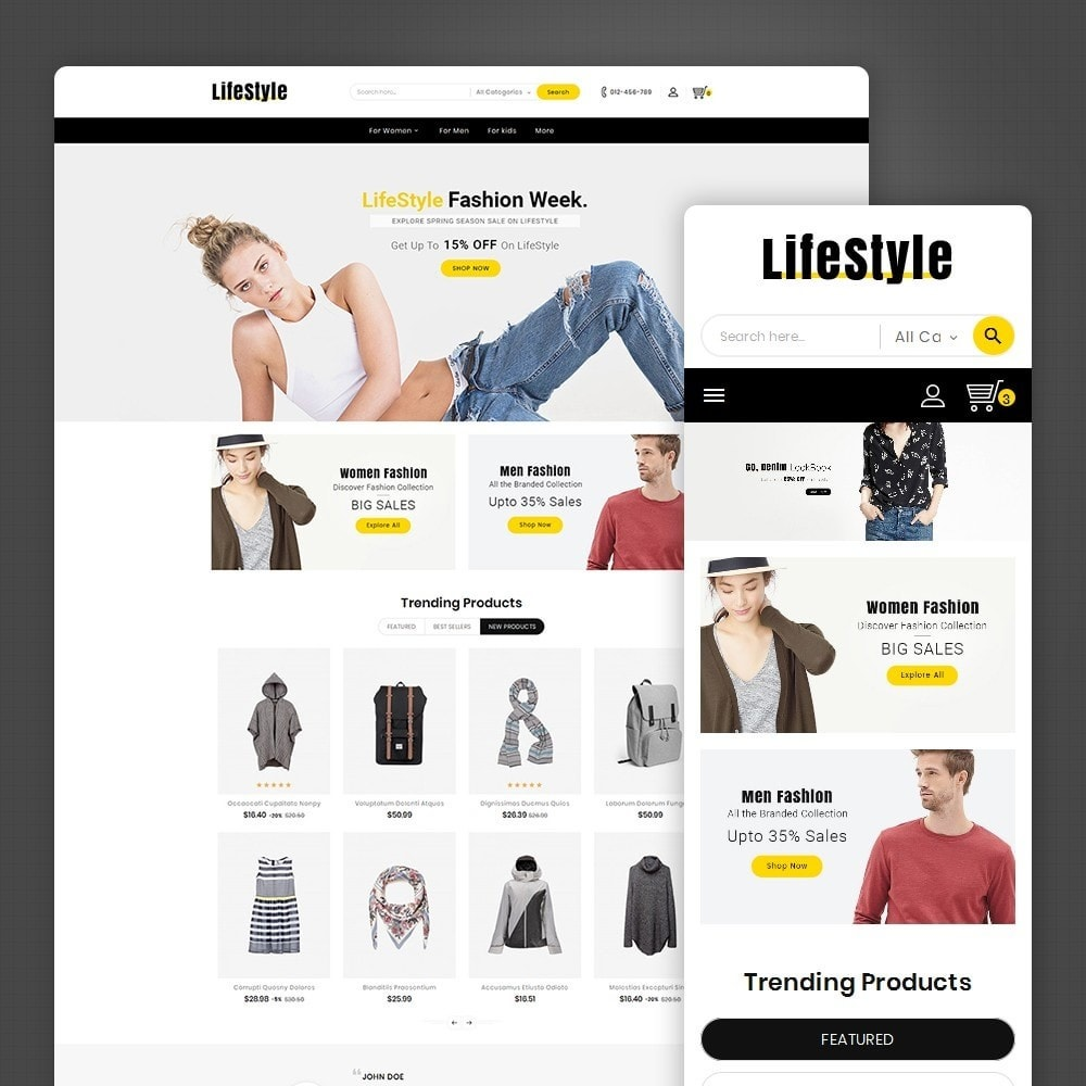 theme - Mode & Schuhe - Life Style Fashion Store - 1