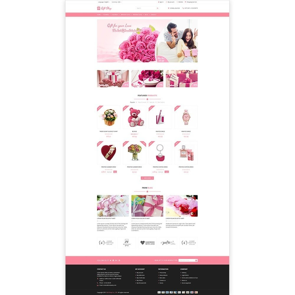 theme - Gifts, Flowers & Celebrations - Gift Shop - For gift, flower, toy & accessories stores - 2
