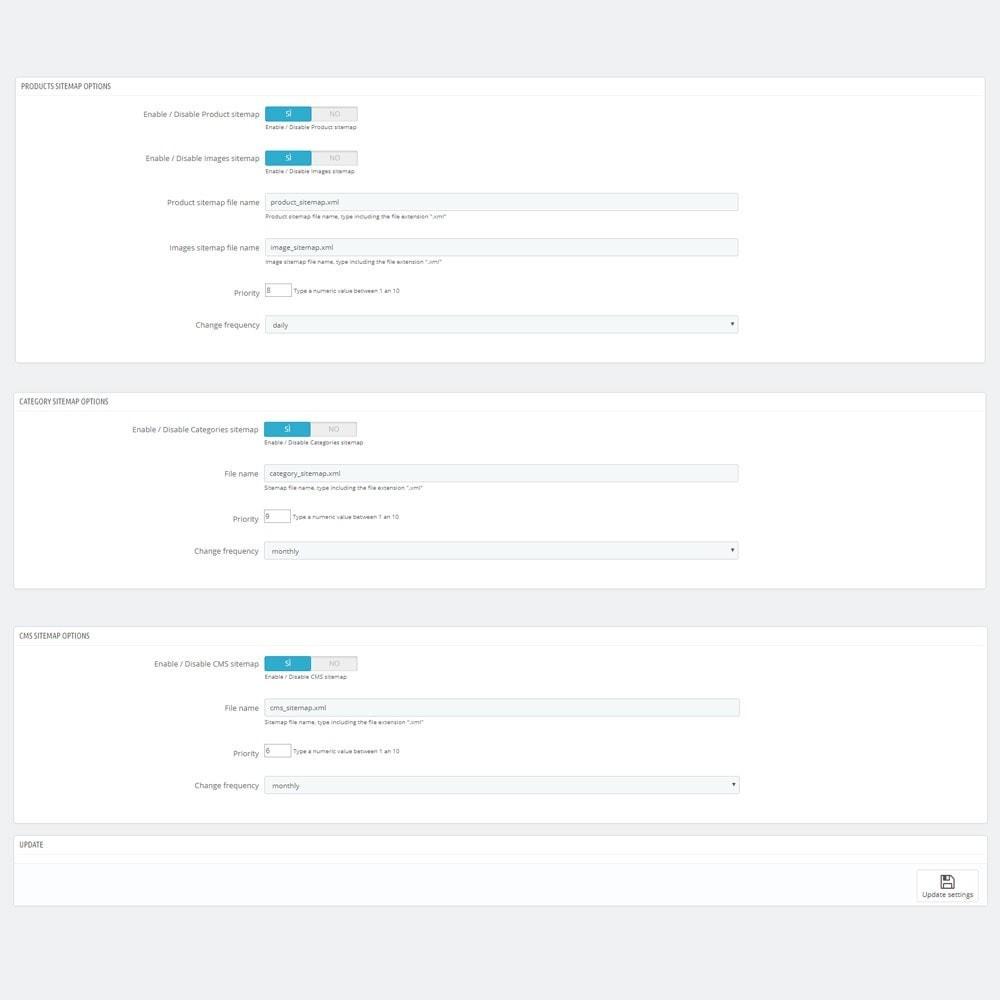 module - SEO (Referenciamento natural) - AW XML Sitemap Generator - 2