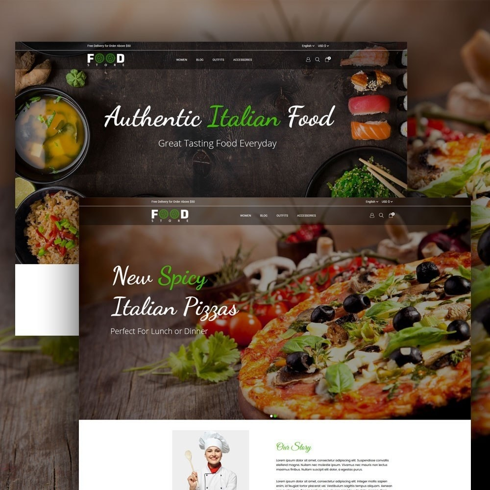 theme - Alimentos & Restaurantes - Food Store - 2