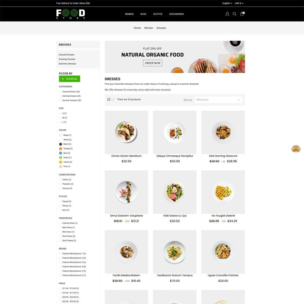 theme - Alimentos & Restaurantes - Food Store - 4