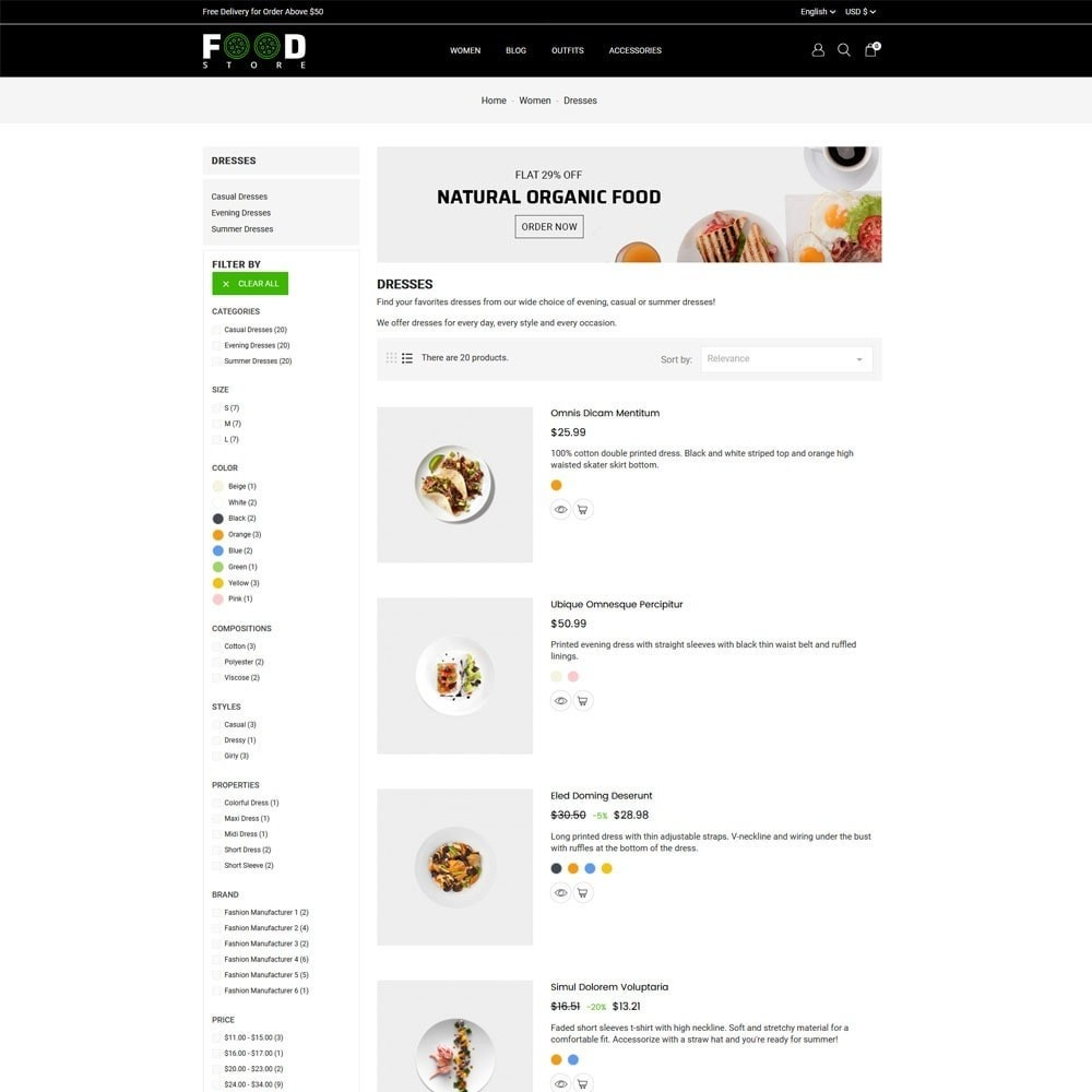 theme - Alimentos & Restaurantes - Food Store - 5