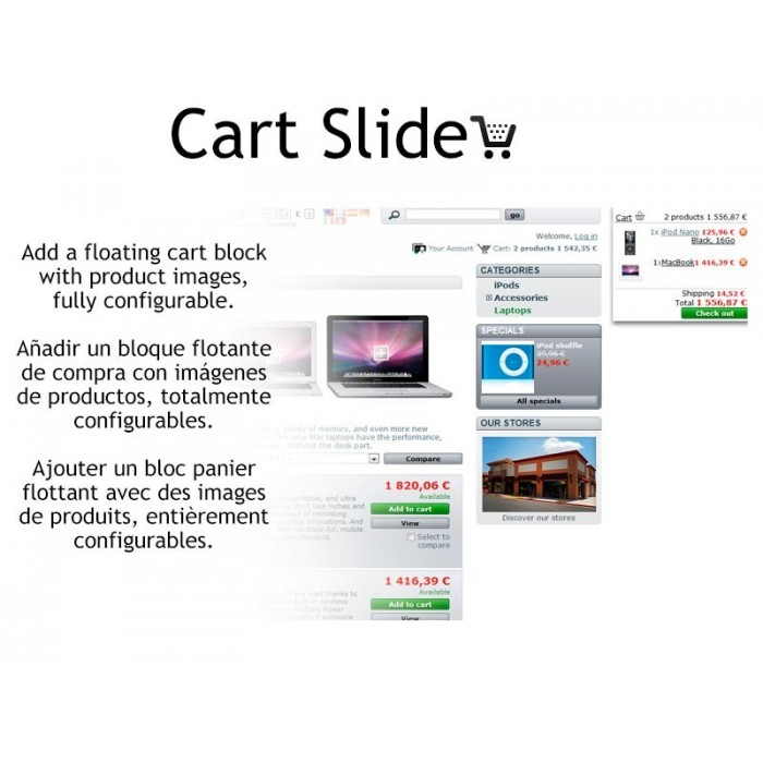 module - Bloques, Pestañas y Banners - Cart Slide - 4