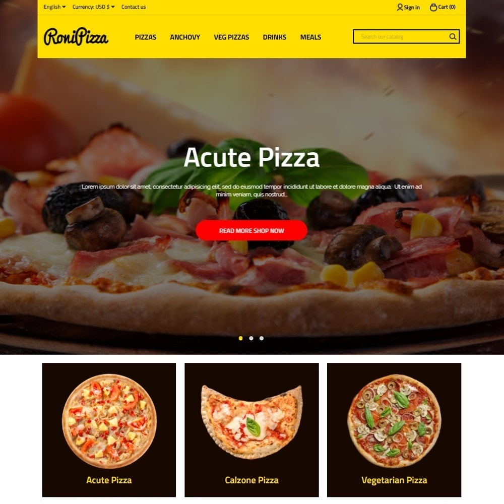theme - Food & Restaurant - RoniPizza - 2