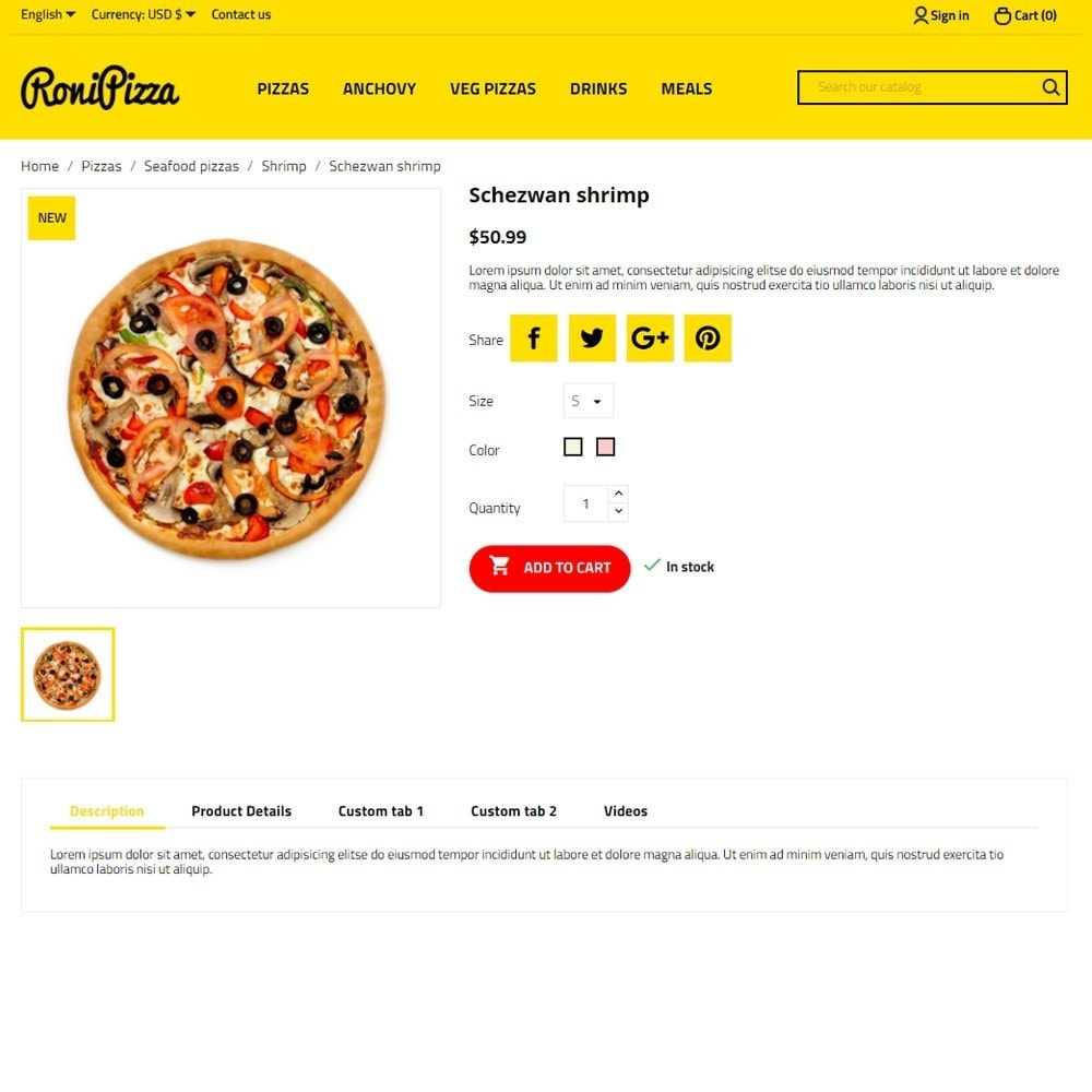 theme - Food & Restaurant - RoniPizza - 5