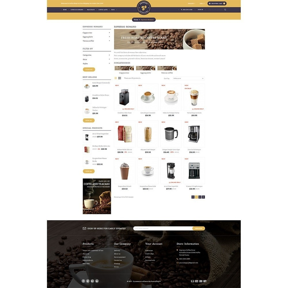 theme - Drink & Wine - Expresso Coffee Store - 3