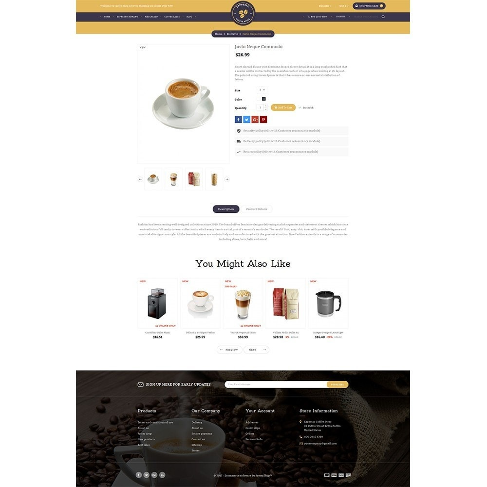 theme - Drink & Wine - Expresso Coffee Store - 4