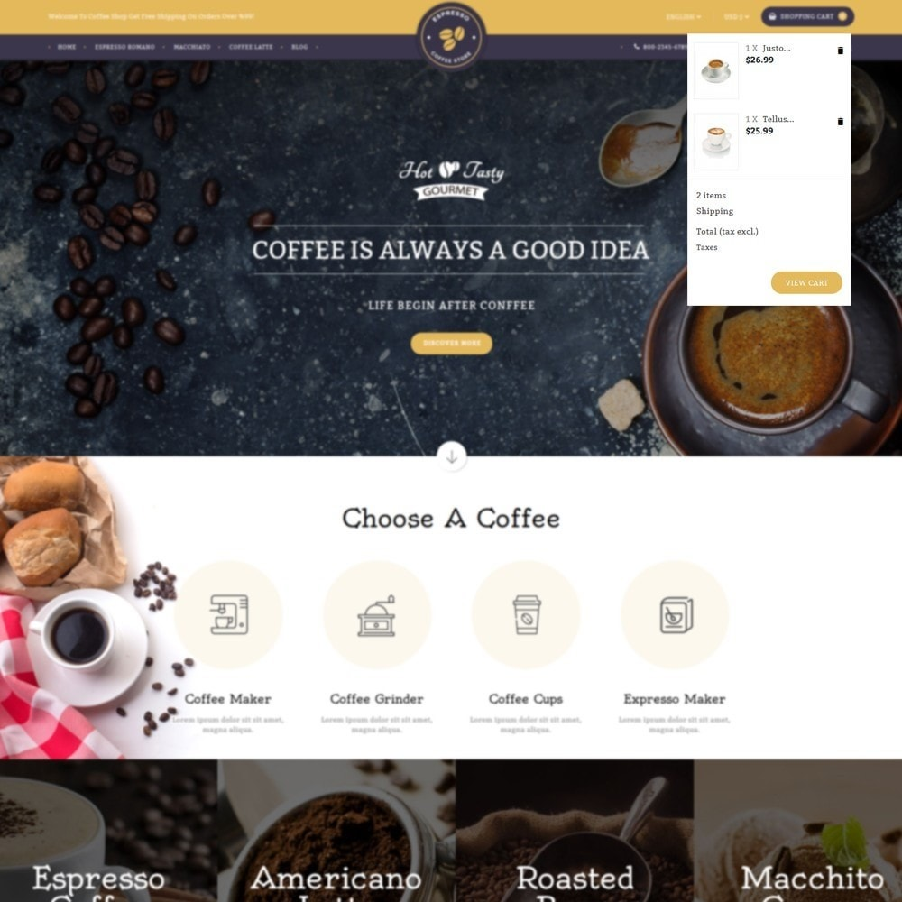 theme - Drink & Wine - Expresso Coffee Store - 5