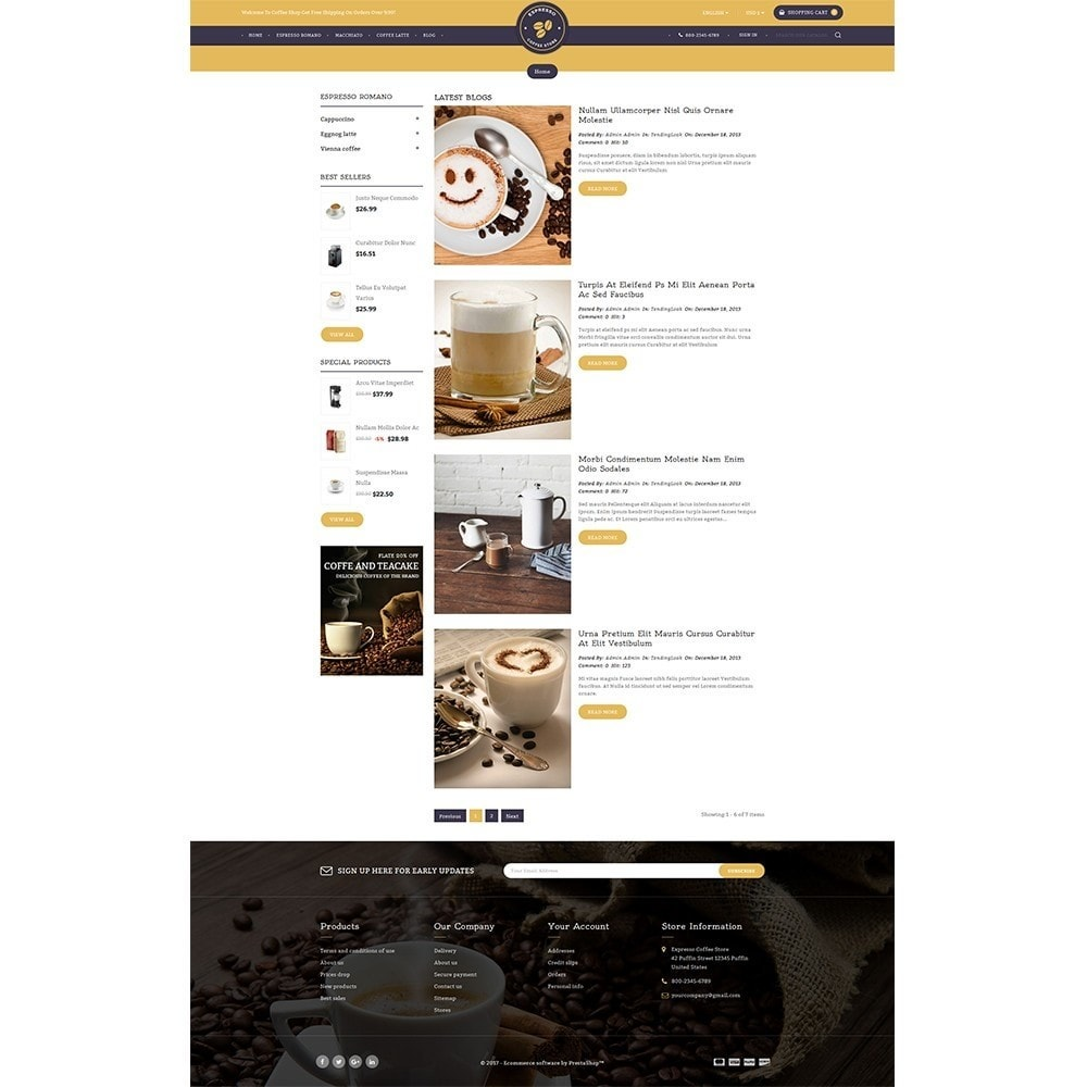 theme - Drink & Wine - Expresso Coffee Store - 6