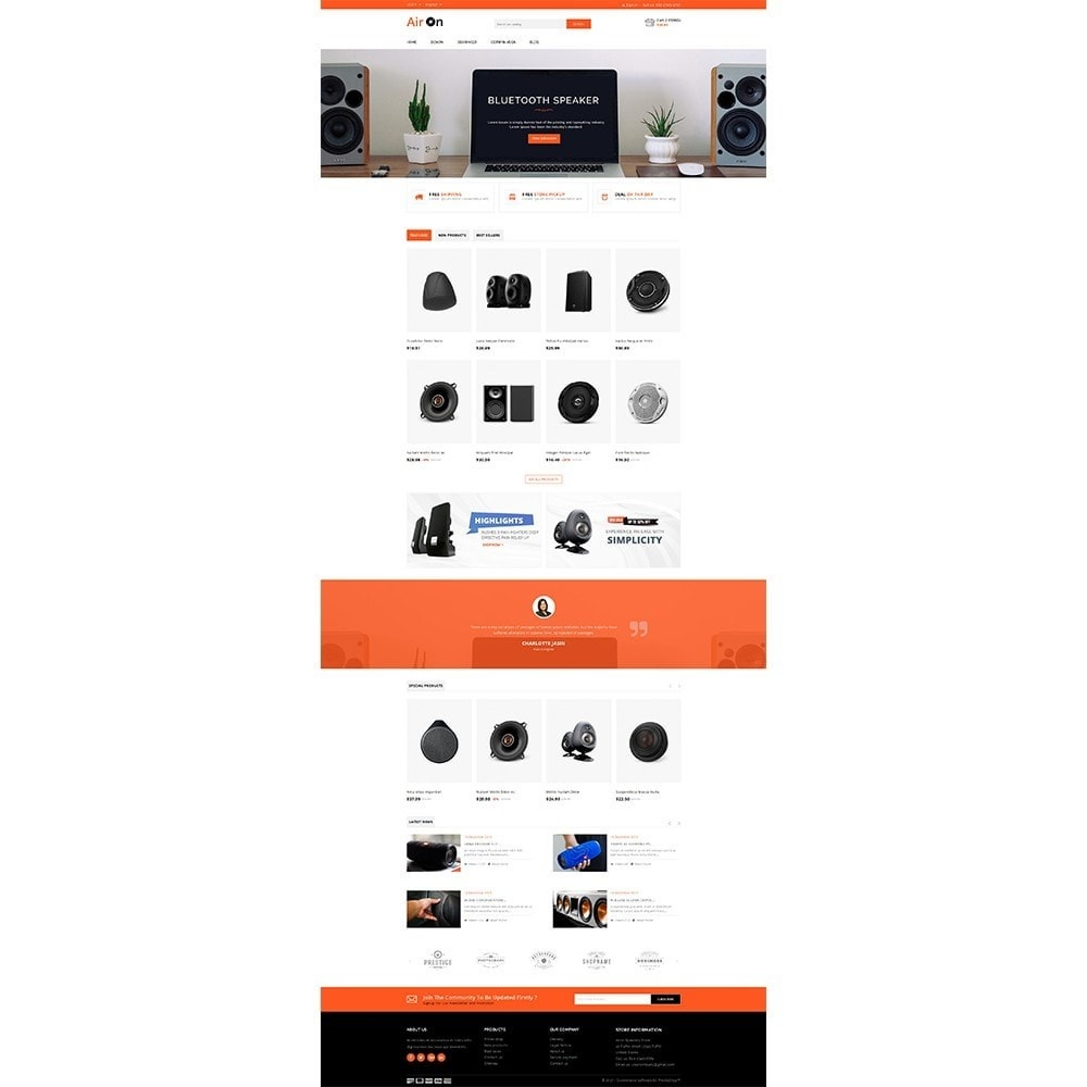 theme - Elettronica & High Tech - Airon Speakers Store - 2